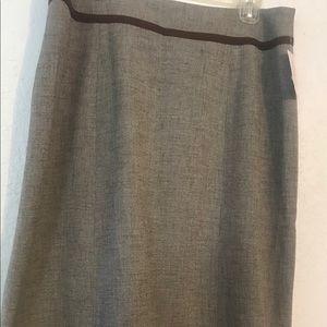 NWT.Classic brown tweed, knee length, A-line skirt